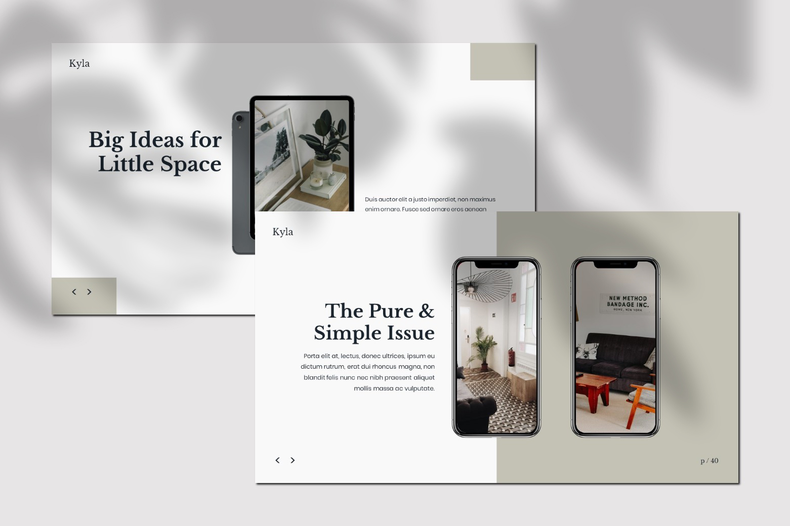 Kyla - Powerpoint Template example image 8