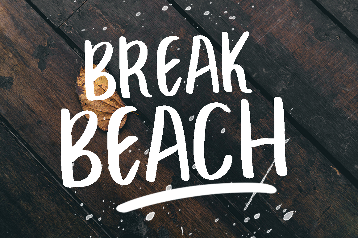 BREAK BEACH - BRUSH FONT example image 1