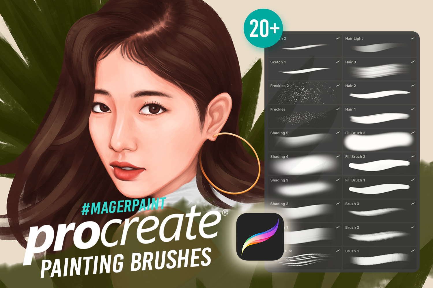 MAGERPAINT - Procreate Painting Brushes example image 1