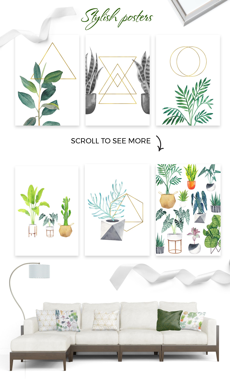 Scandi house plants interior creator example image 3