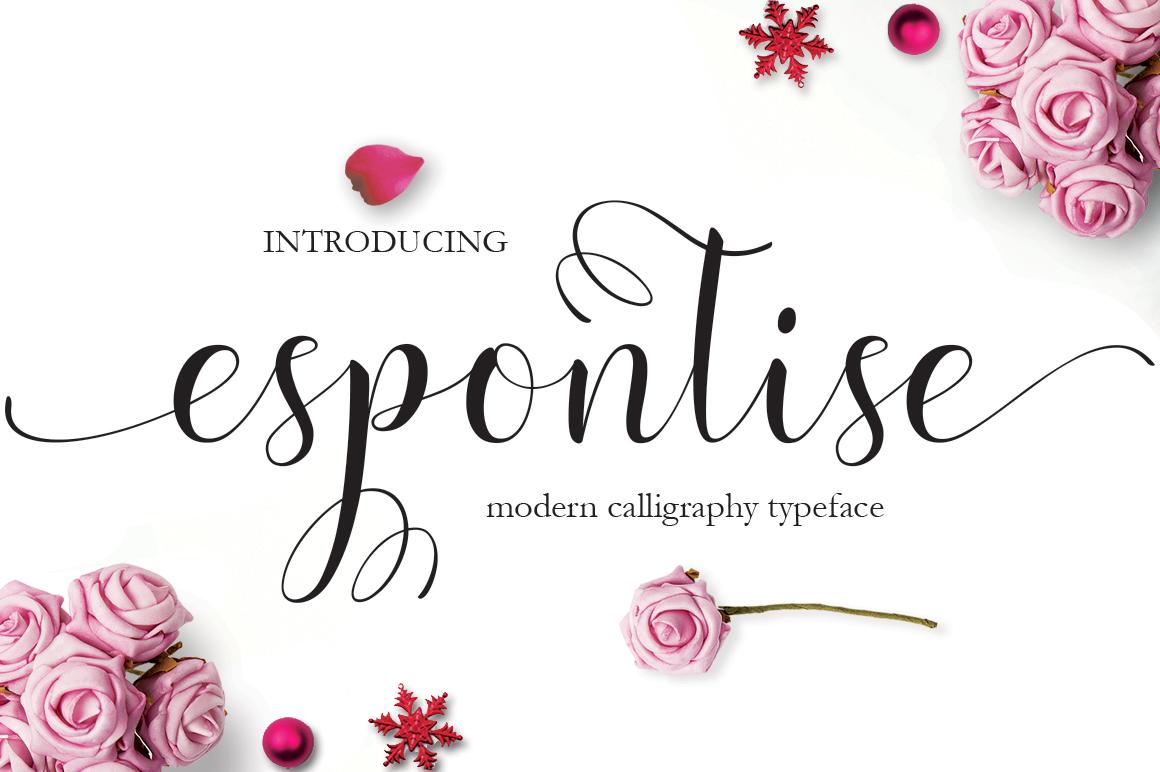 Espontise Script example image 1