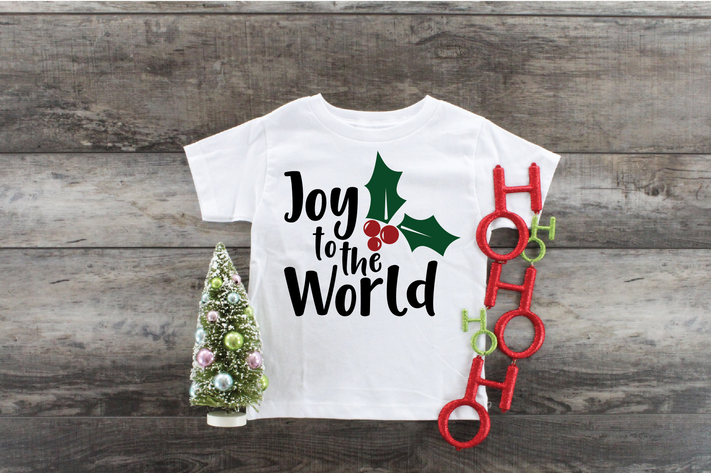 Joy to the World SVG Cut File - Christmas SVG example image 7
