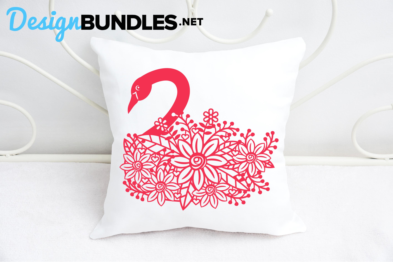 Swan paper cut design example image 3