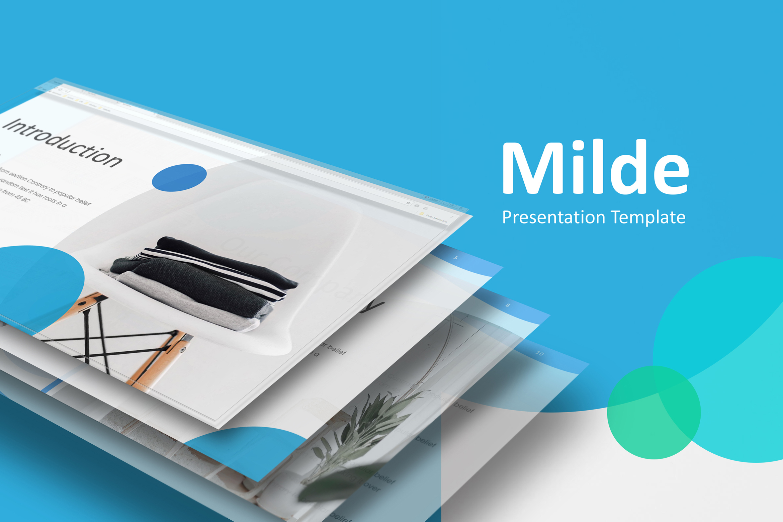 Milde - Multipurpose Powerpoint Presentation Template example image 1