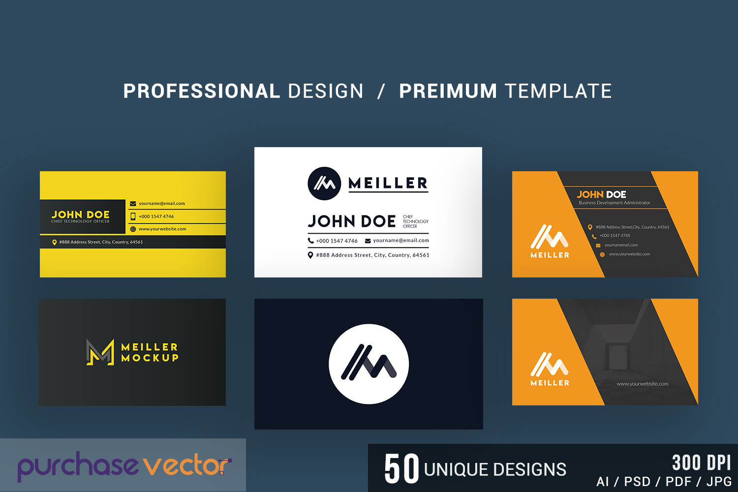 Professional Business Cards Templates example image 4