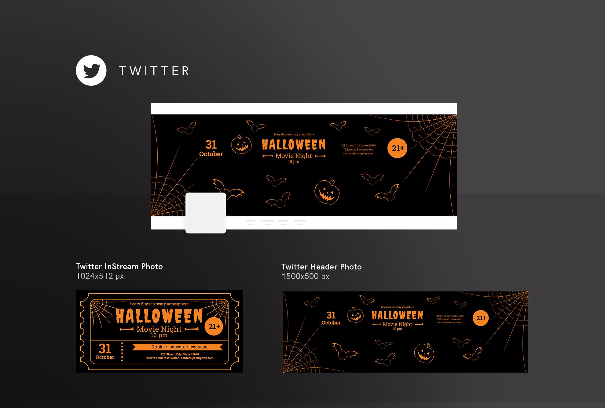 Halloween Movie Night Design Templates Bundle example image 10