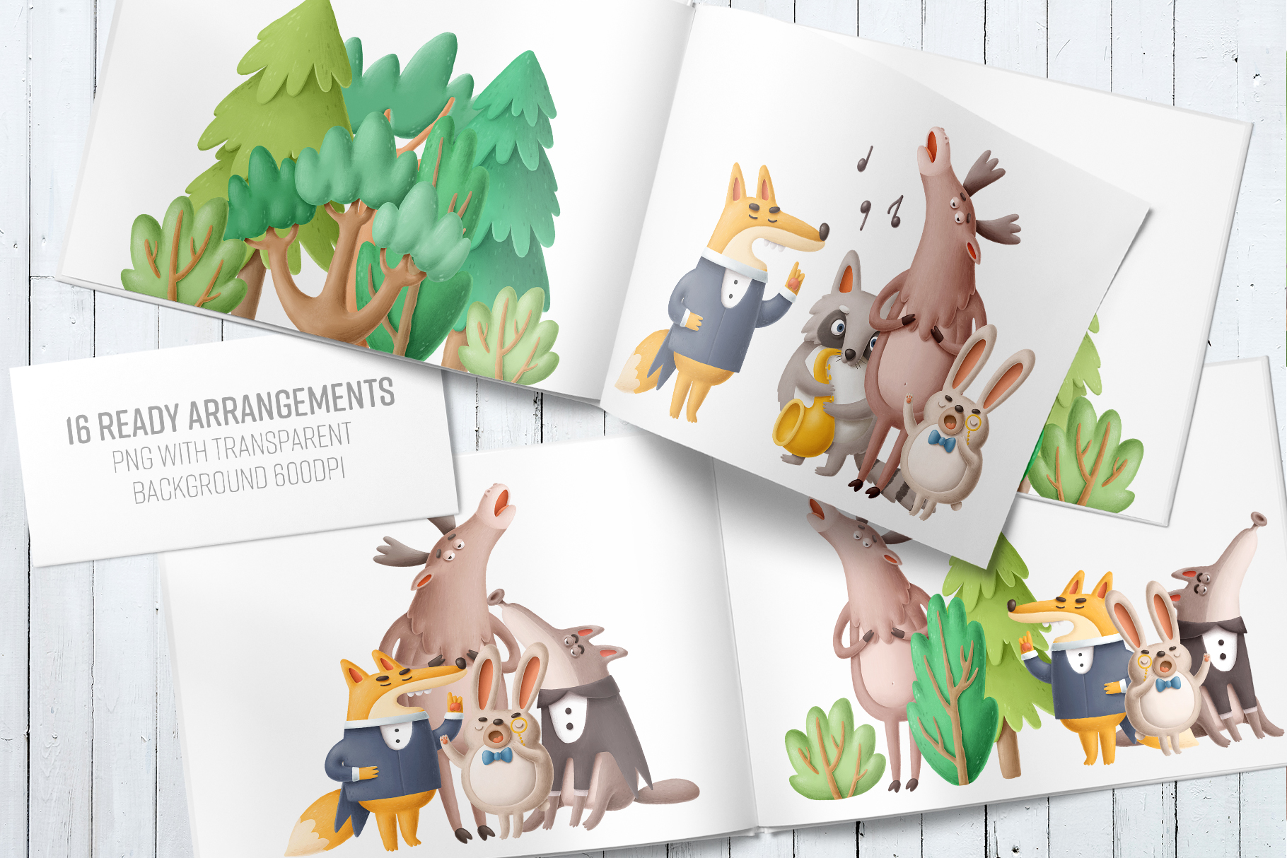 Collection of singing forest animals example image 3