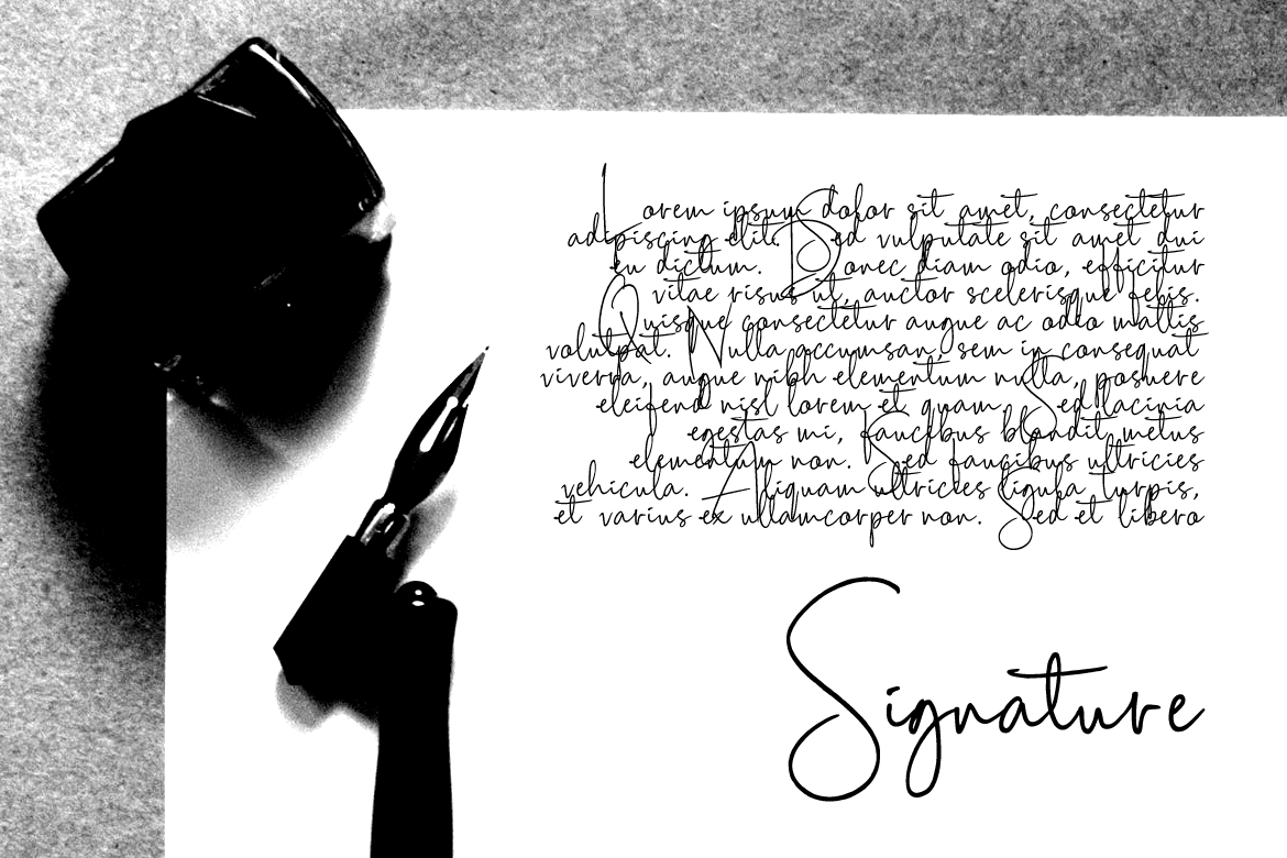 Scripty Handwritten Signature Font example image 3