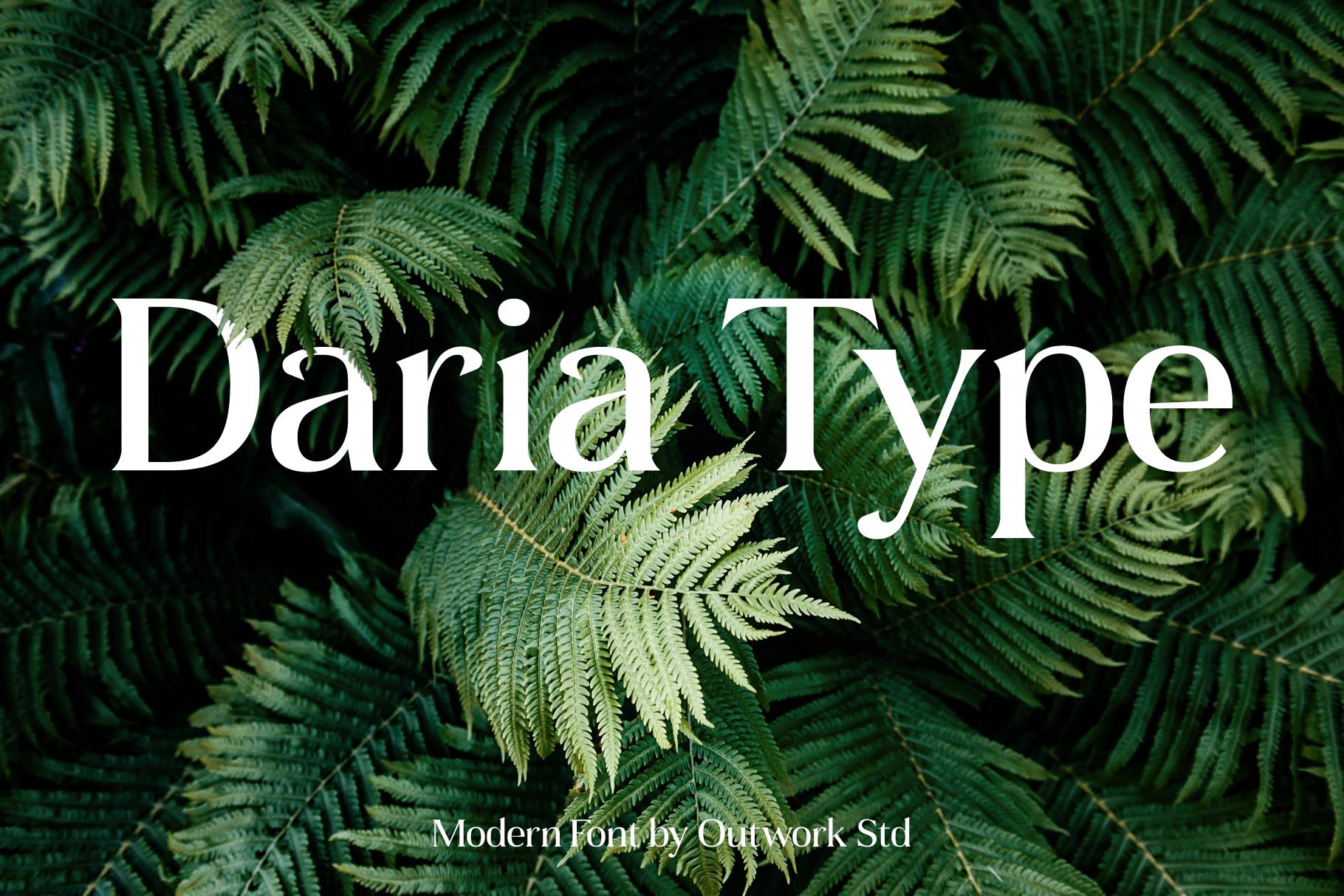 Daria Type example image 1
