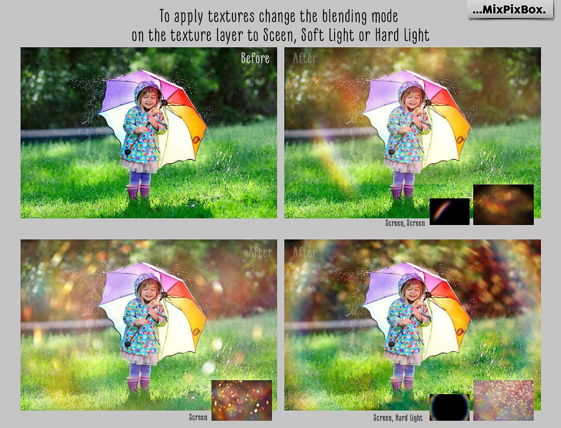Rainbow overlays and textures example image 2