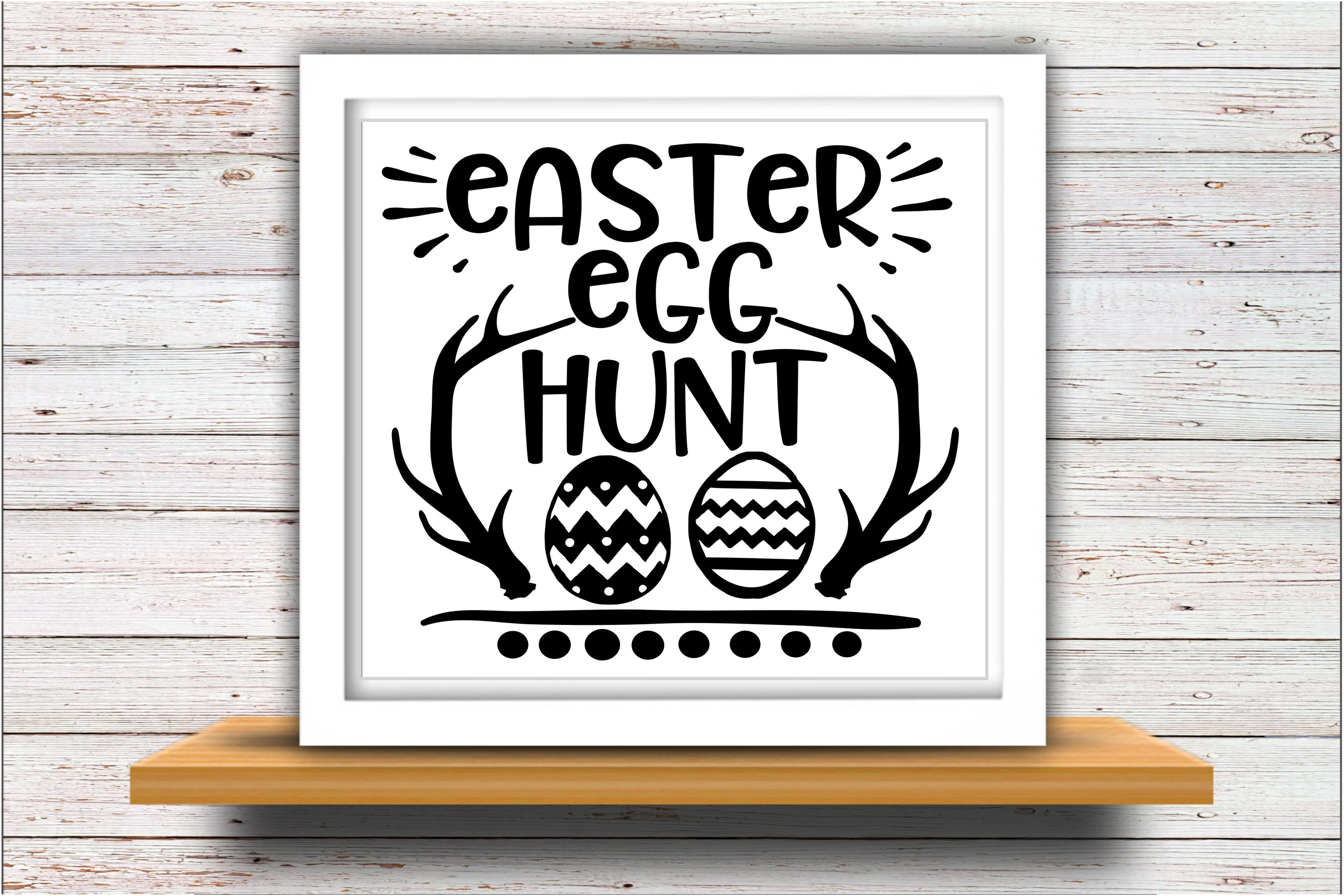 Happy Easter SVG DXF JPEG Silhouette Cameo Cricut Egg hunt example image 2