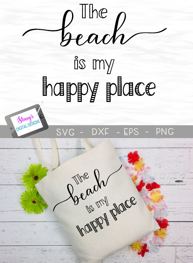 The Beach is My Happy Place SVG - Beach SVG File example image 4