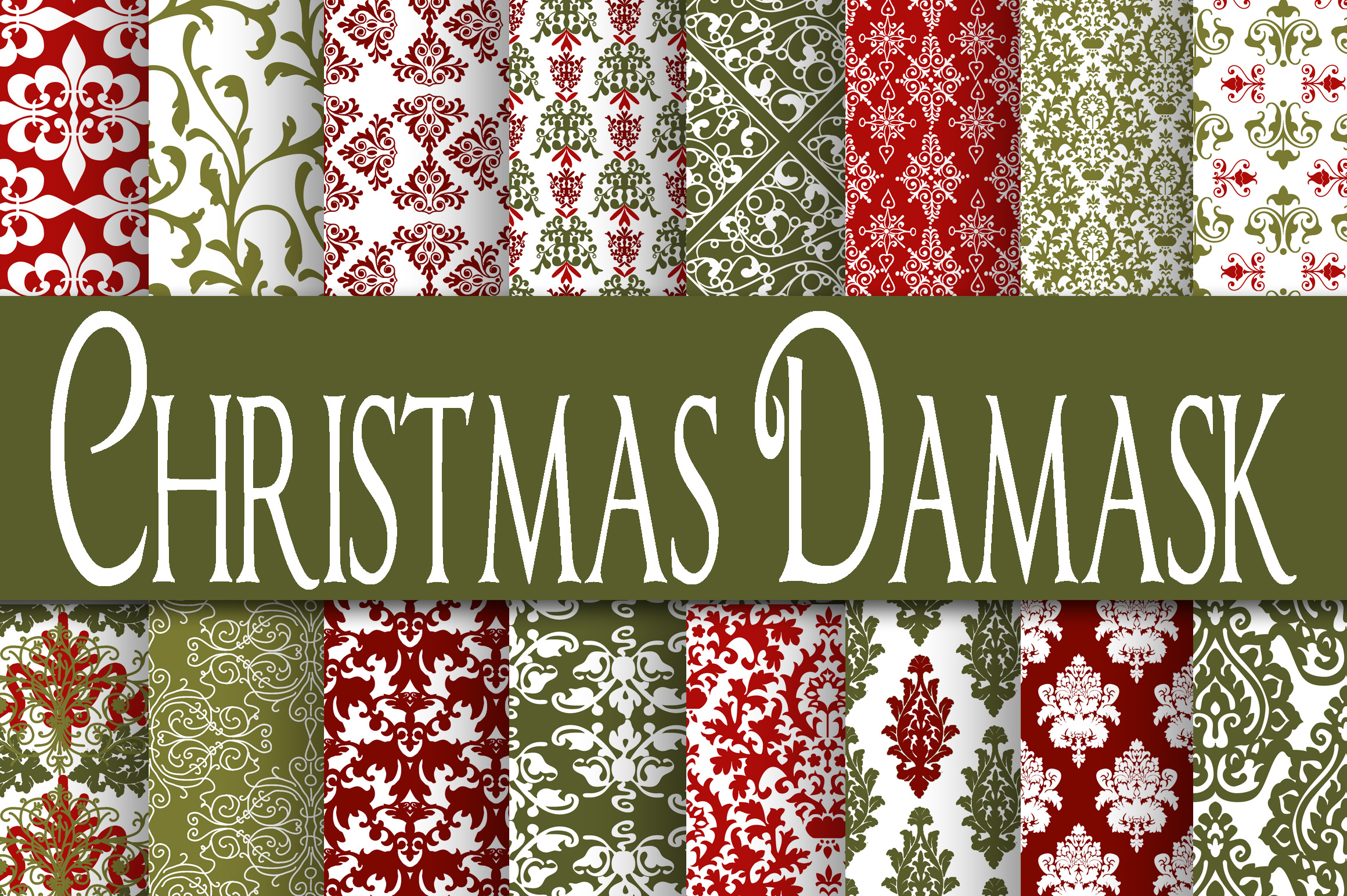 Christmas Bundle - Includes Over 200 Digital Papers example image 2
