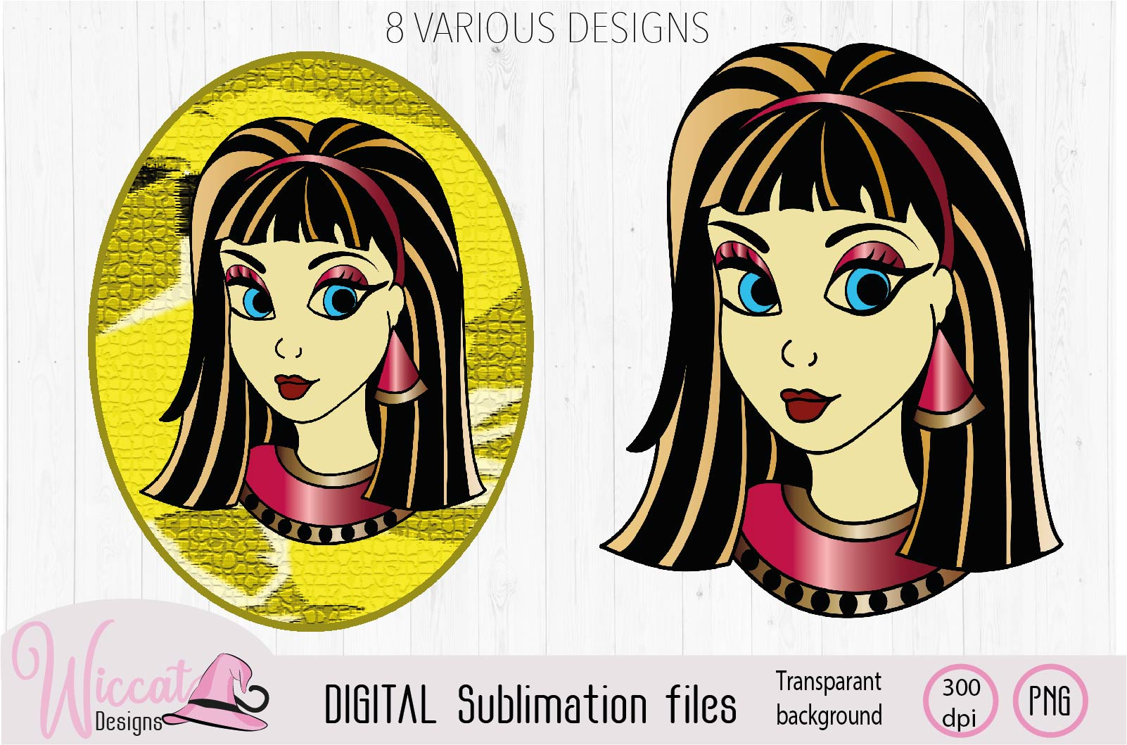 Cleopatra Girl face sublimation example image 2