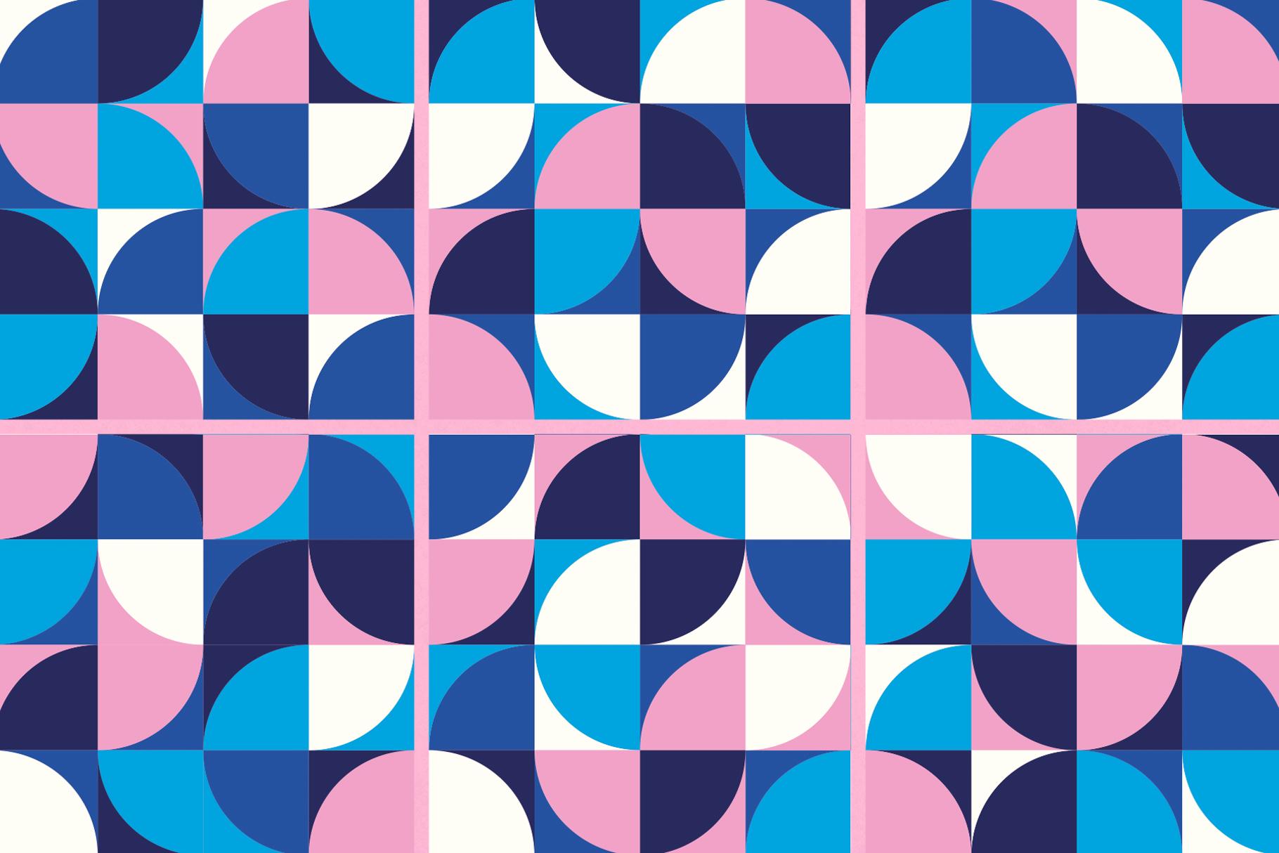 Geometric Shapes Patterns example image 6