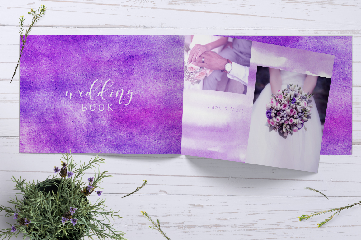 Fancy Violet - watercolor backgrounds example image 7