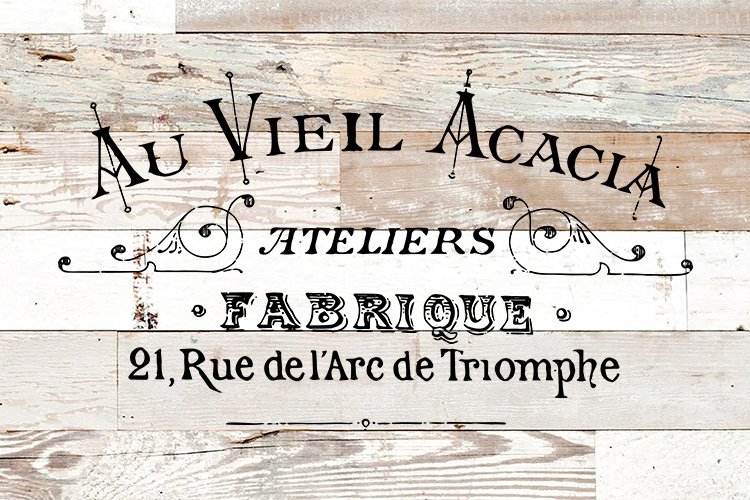 Vintage French Label printable transfer furniture pillow art example image 1