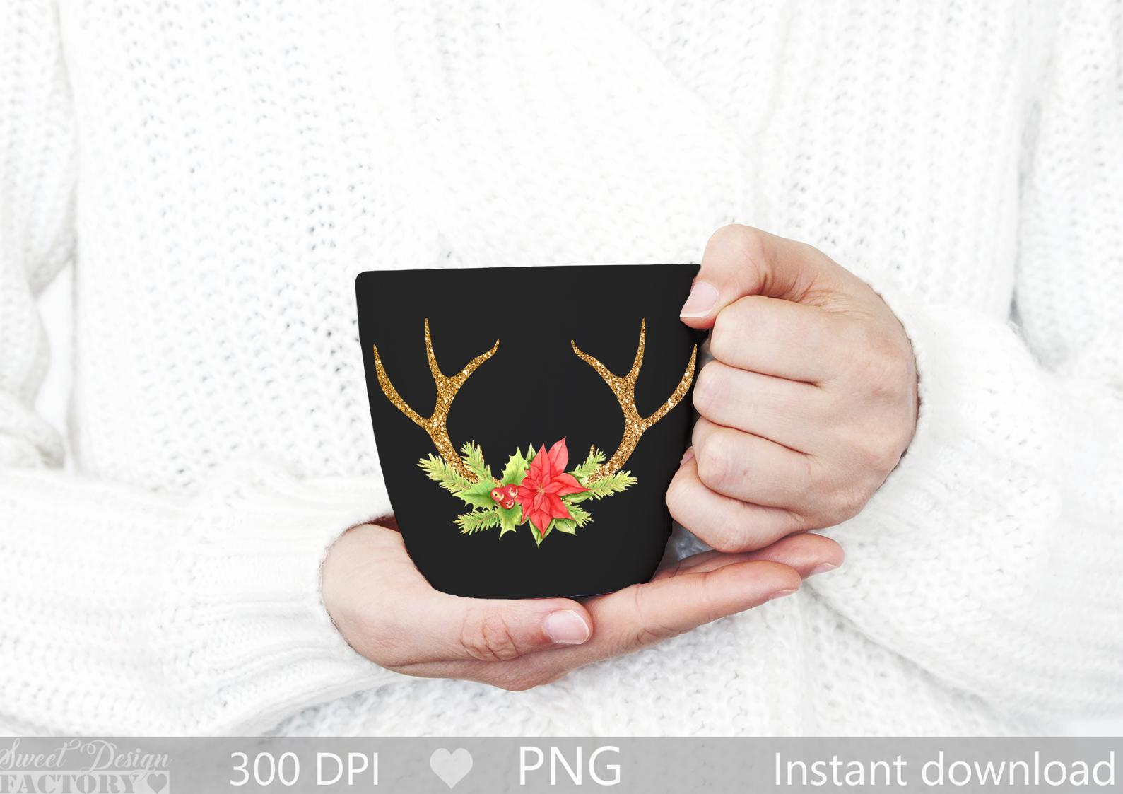Antlers reindeer clipart example image 3