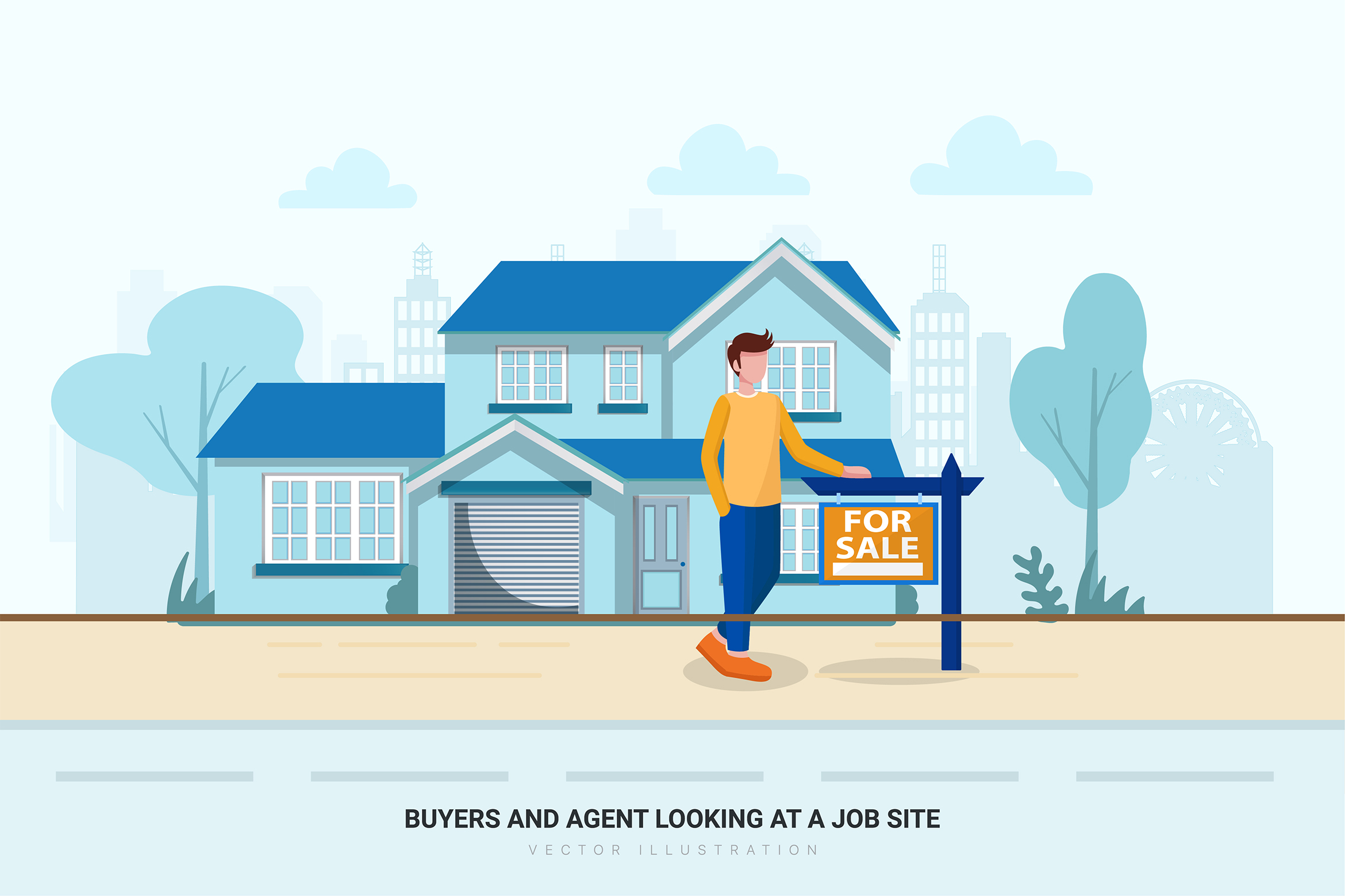 Construction & Real Estate Vector Illustration - Part 30 example image 7