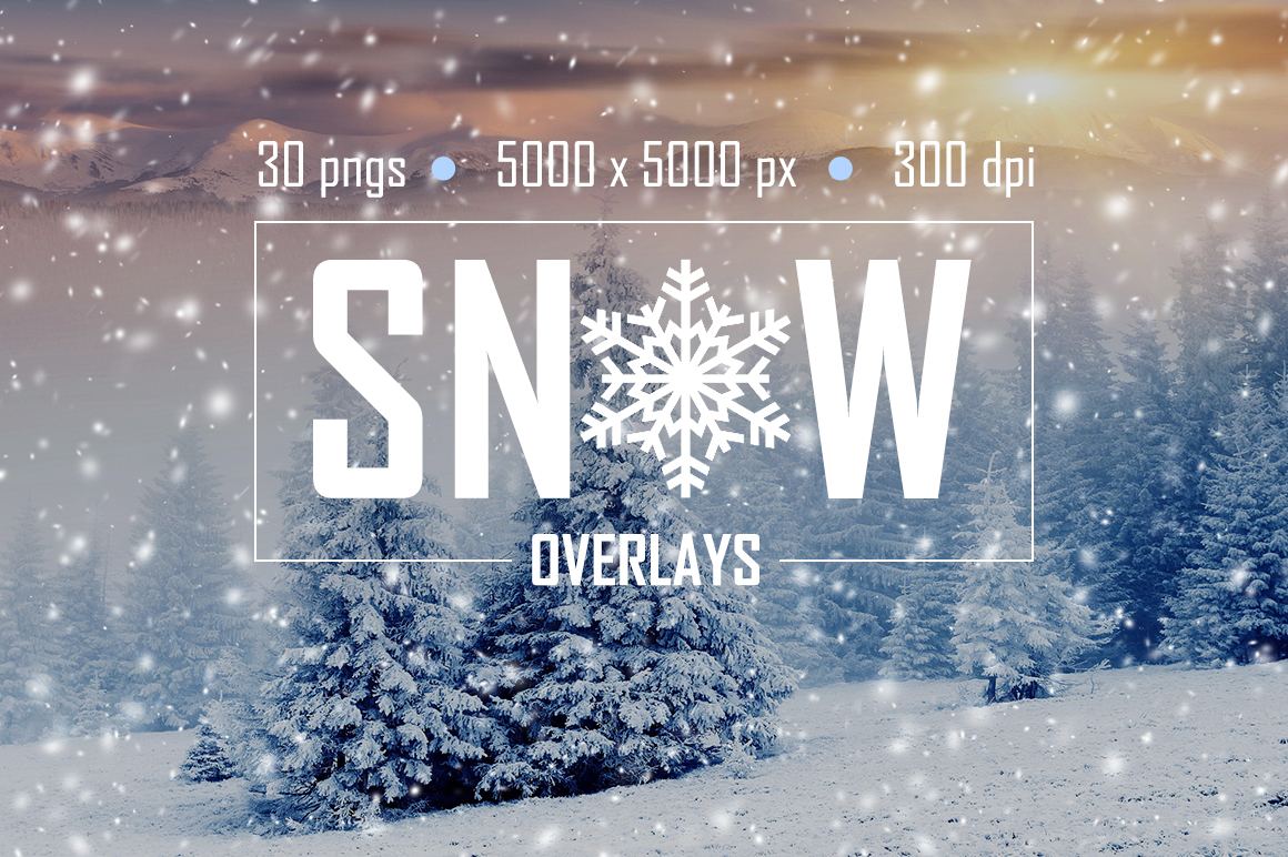 30 Real Snow Overlays example image 1