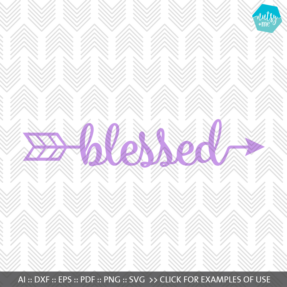 Blessed Arrow - SVG, AI, EPS, PDF, DXF & PNG FILES example image 1