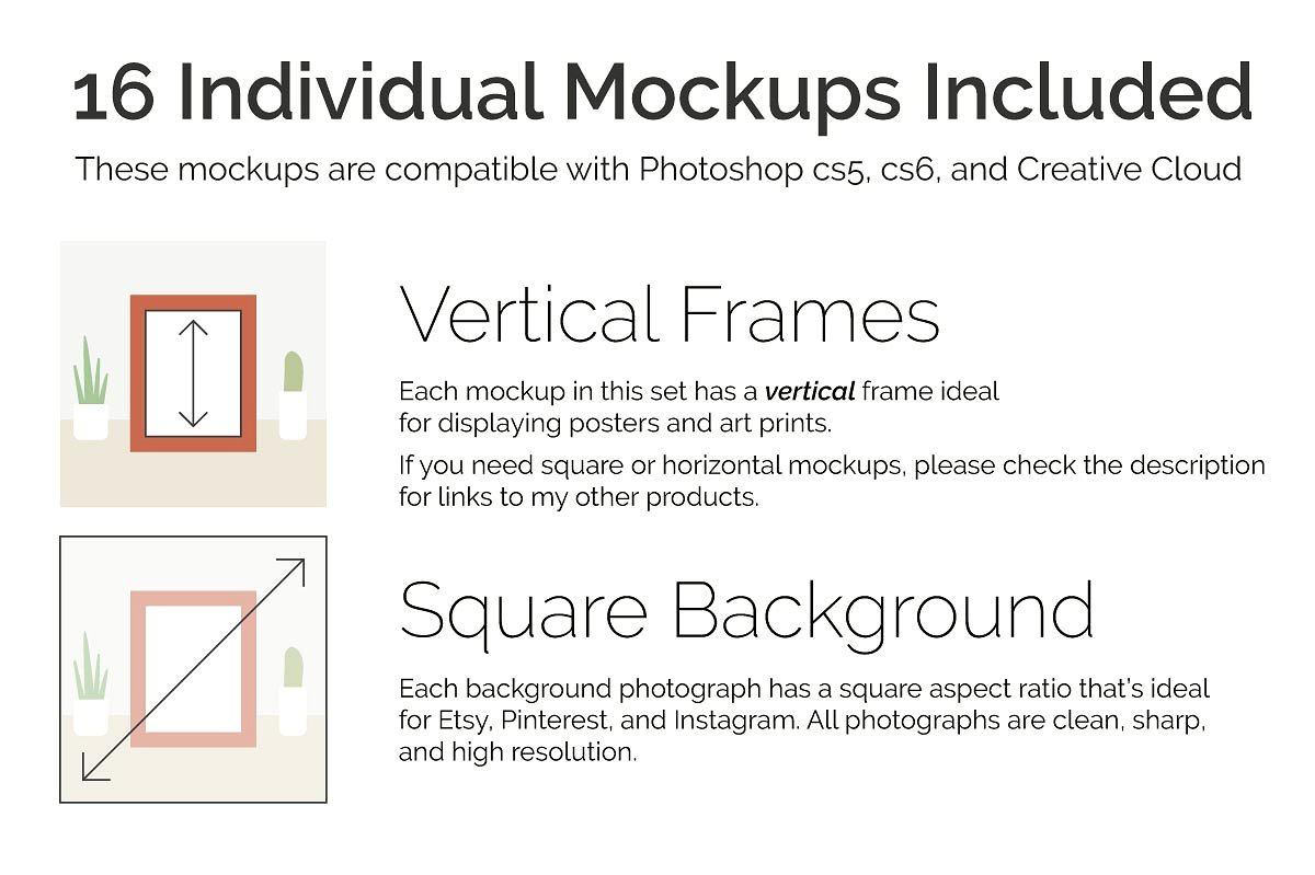 16 Etsy Friendly Print Mockups example image 3