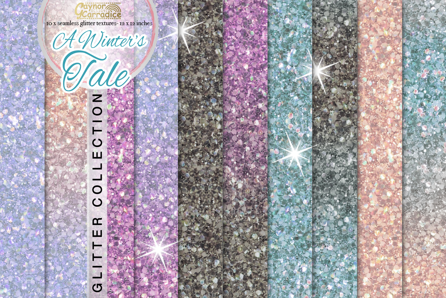 A winters tale - winter Glitter seamless textures example image 1