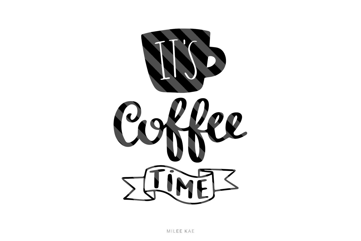 Coffee time SVG, Cutting file, Decal example image 1