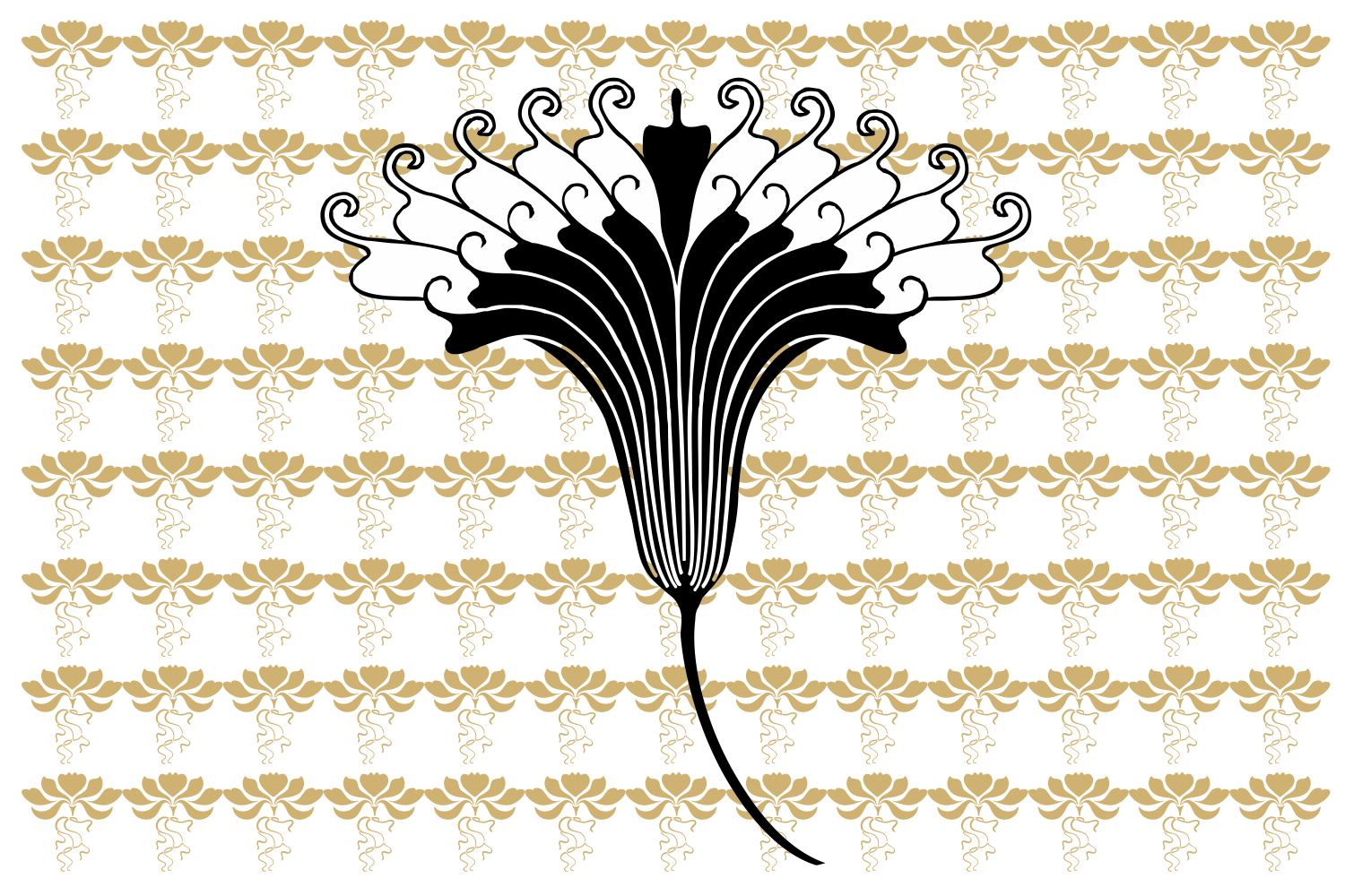 Jugendstil Flowers (family pack) example image 7