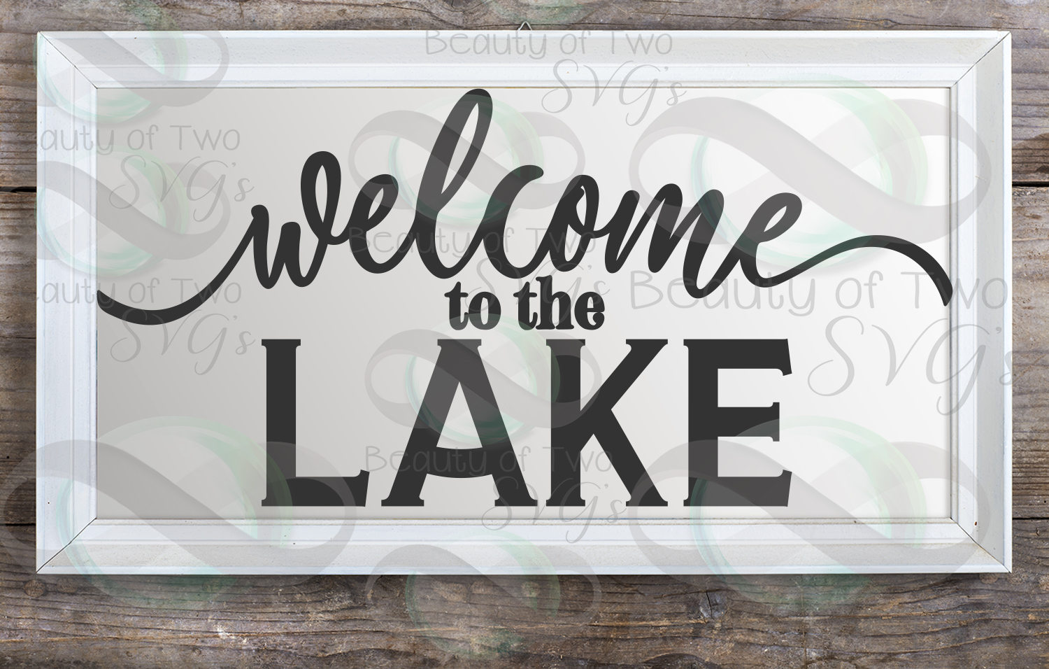 Welcome to the Lake svg, Lake House cabin sign svg, Lake svg example image 2