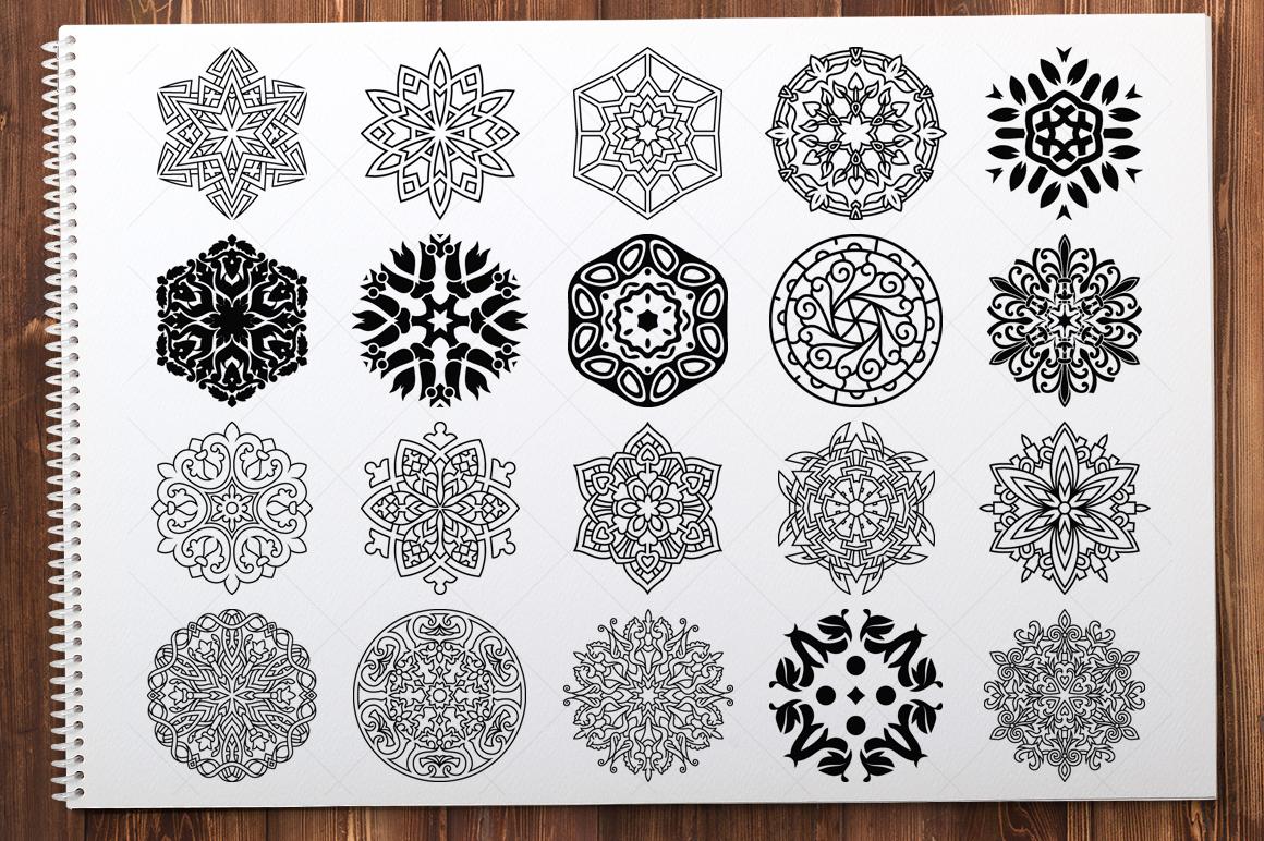 500 Vector Mandala Ornaments example image 8