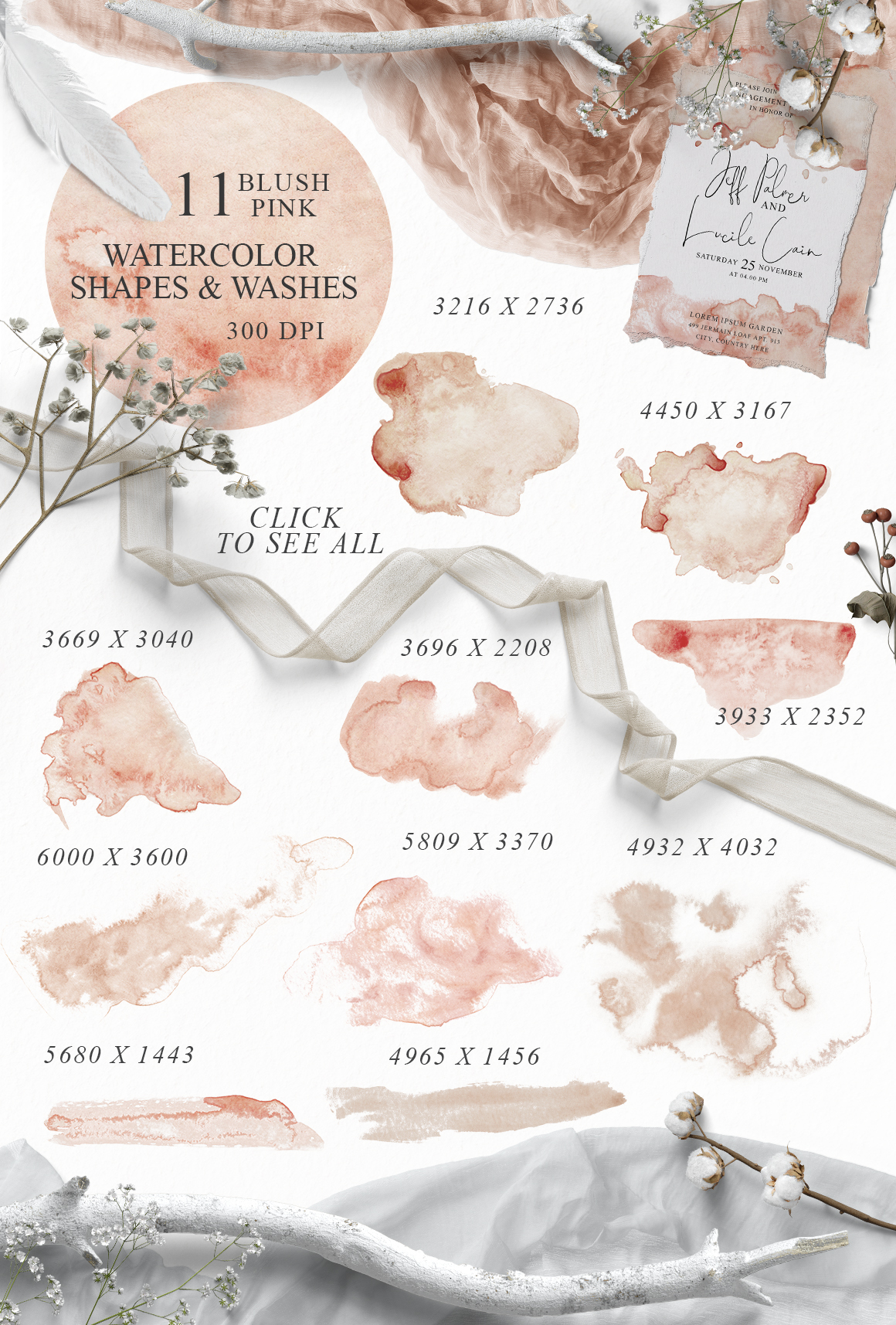 Elegant Watercolor Backgrounds example image 6