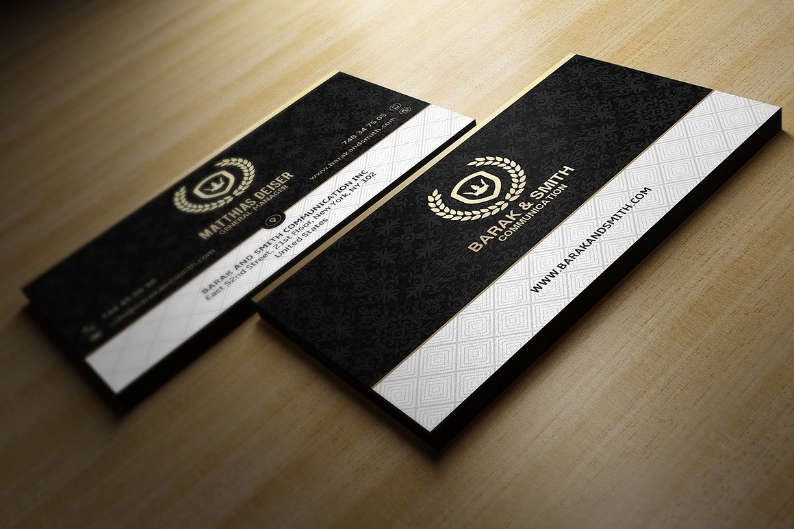 Gold And Black Business Card example image 1