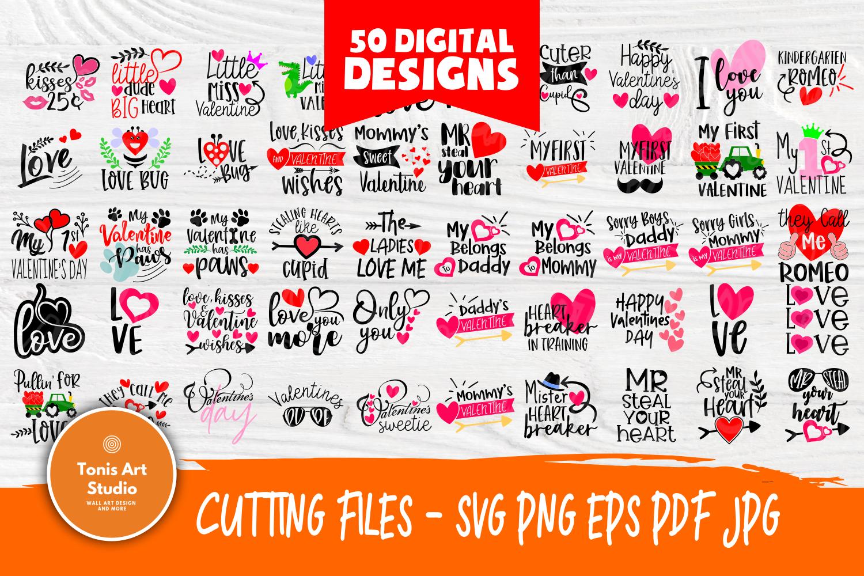 Valentines SVG Bundle| Valentine's Day Cut Files | Funny SVG example image 1