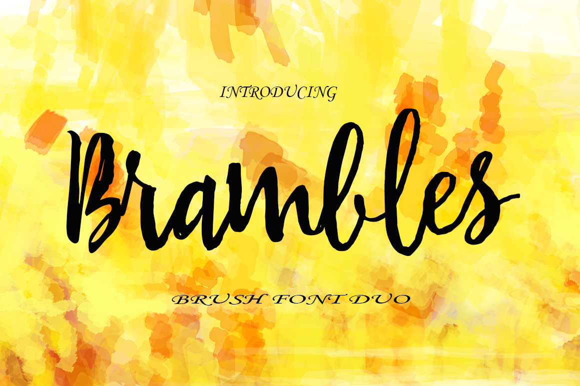 Brambles Font Duo example image 1