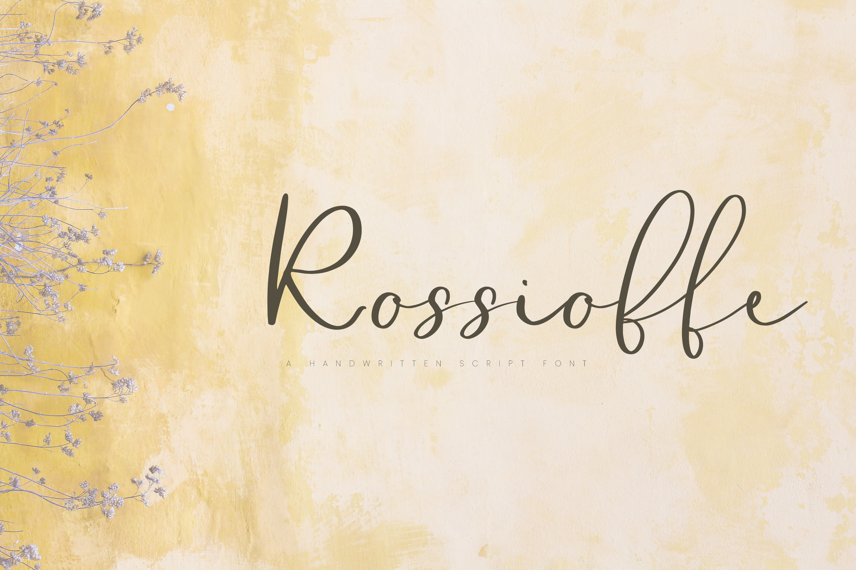 Rossioffe, handwritten script font example image 1