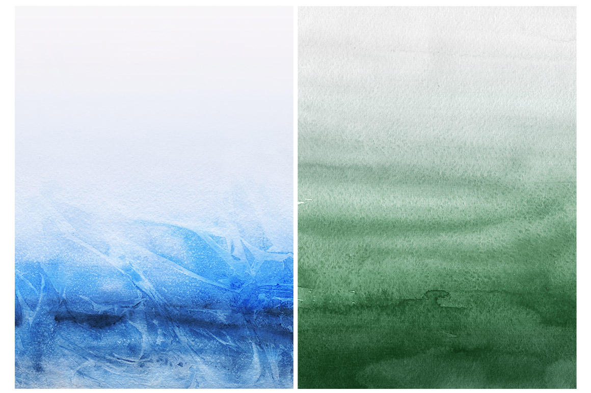 Natural Watercolor Ombre Backgrounds example image 5