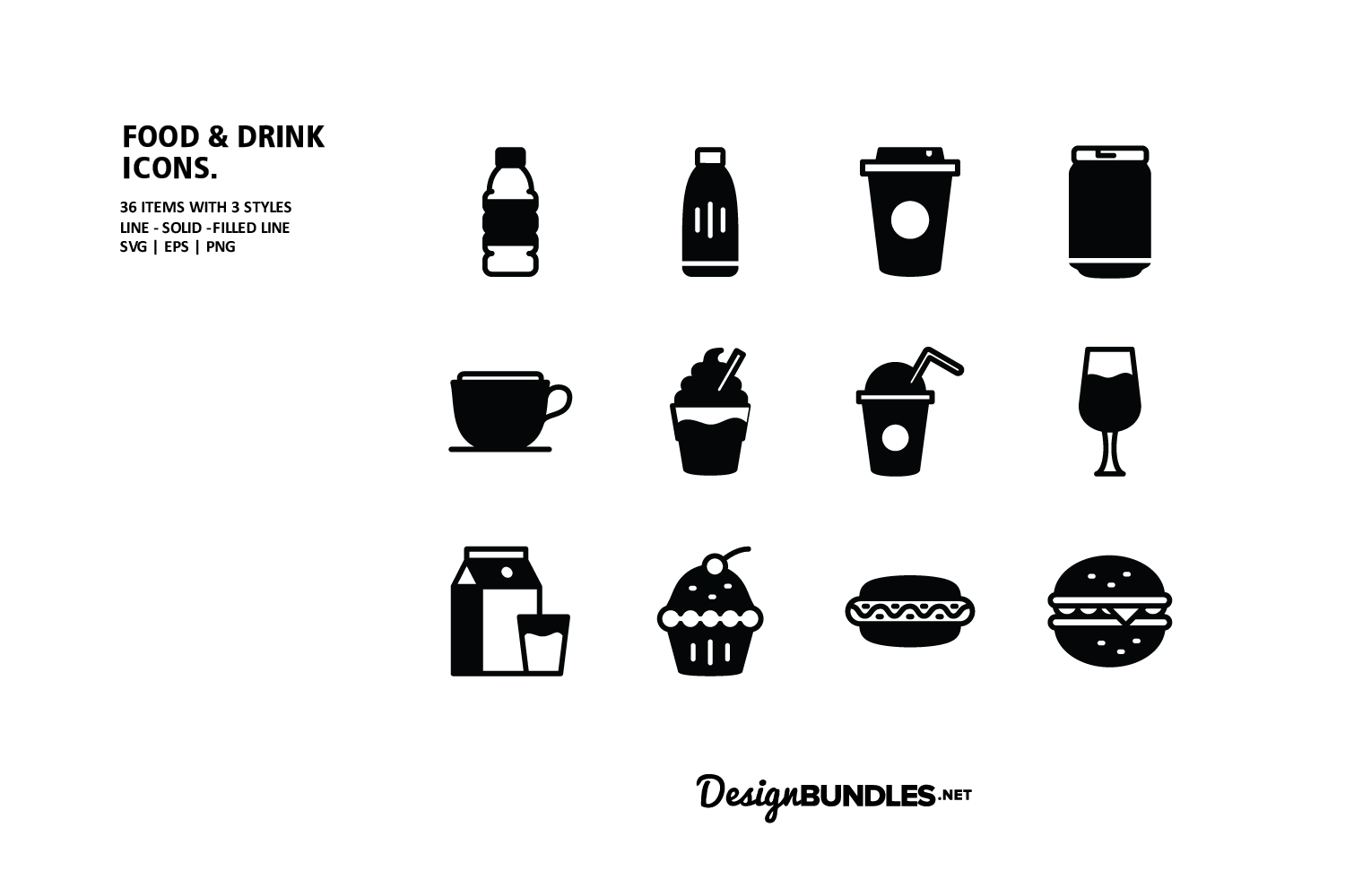 Food and Drink Icons example image 3