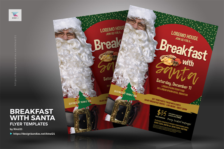 Breakfast With Santa Flyer Templates example image 4
