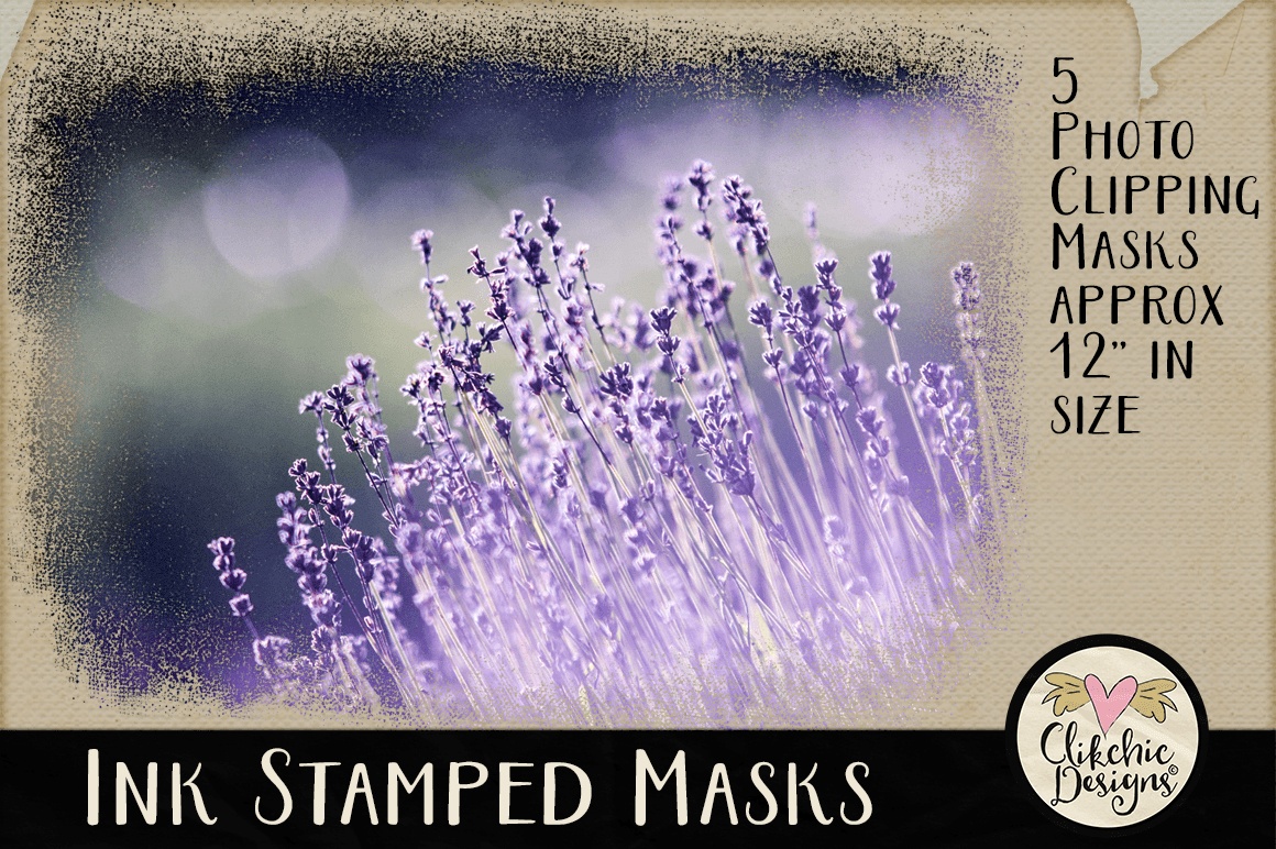 Ink Stamped Photoshop Clipping Masks & Tutorial example image 3