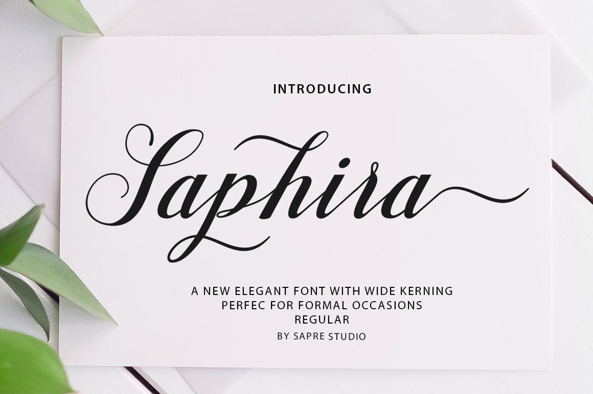 Saphira Script example image 1