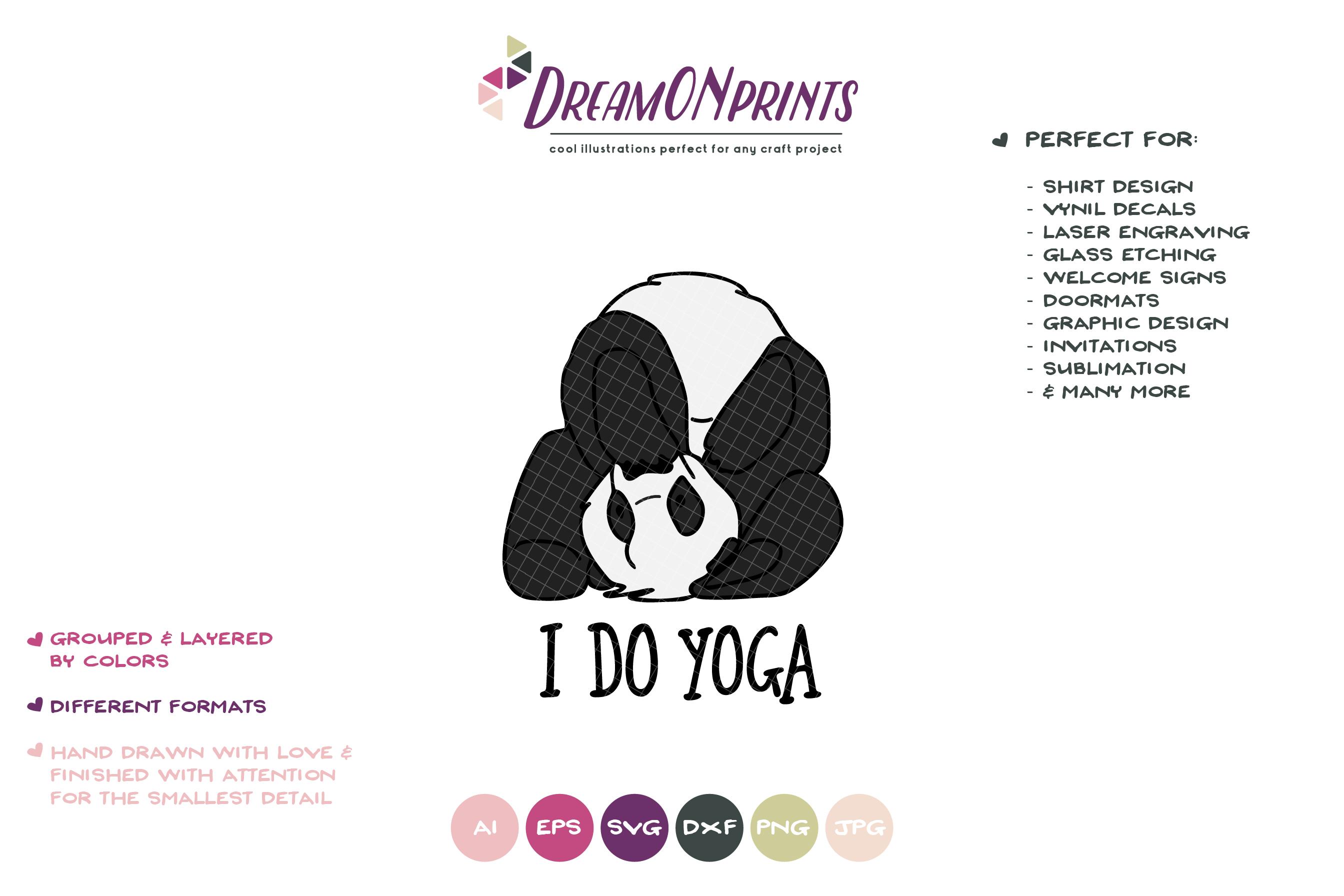 I Do Yoga | Panda Bear SVG | Funny Panda Illustration example image 2