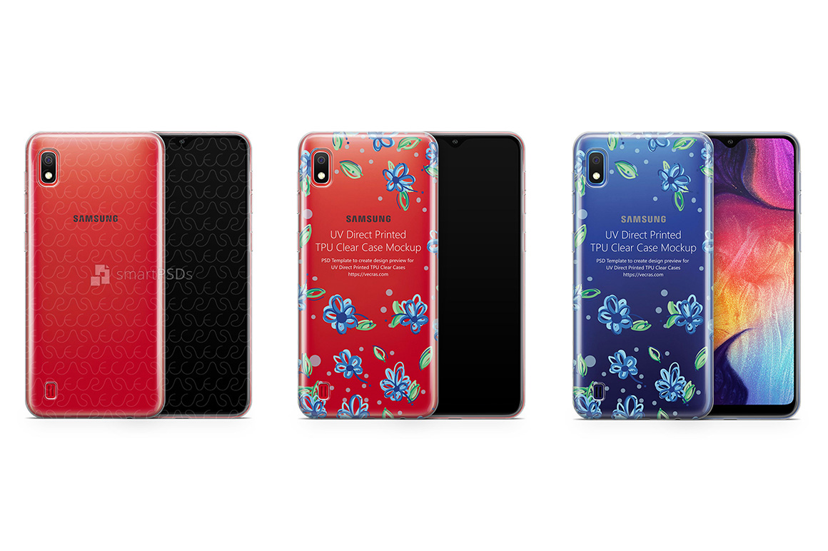 Samsung Galaxy A10 TPU Clear Case Mockup 2019 example image 1