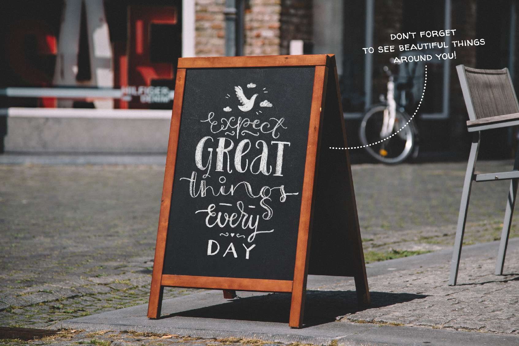 Chalk Lettering Set, Vector example image 6