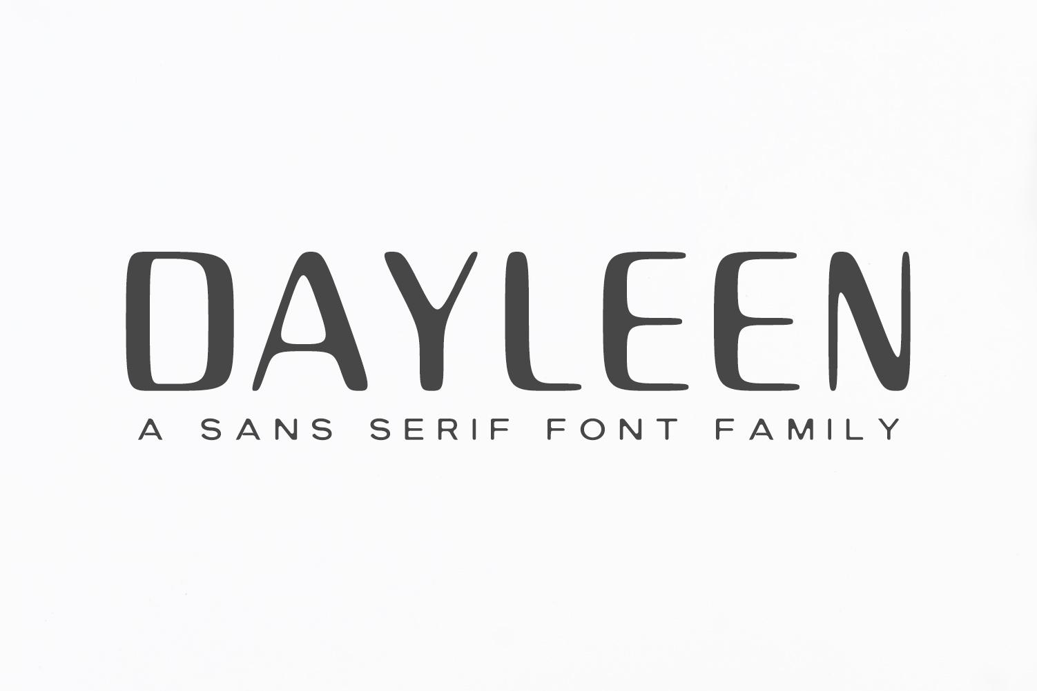 Dayleen Sans Serif Font Family example image 8