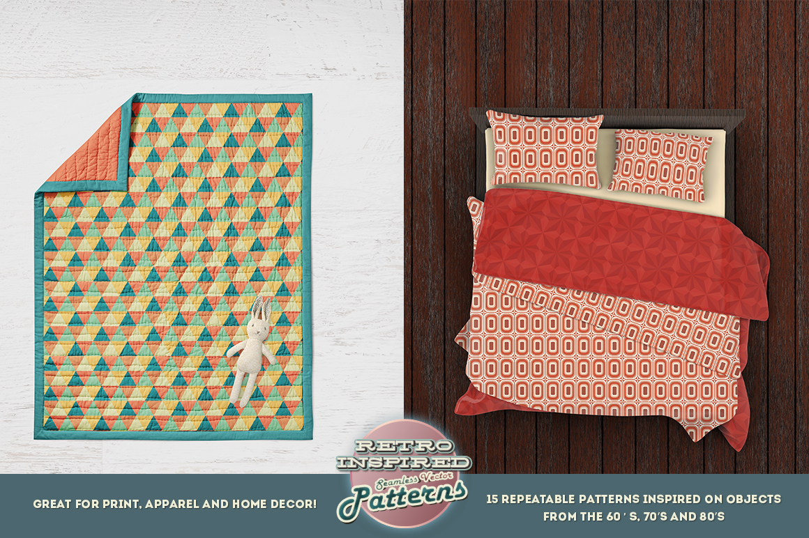 Retro Inspired Vector Patterns example image 3