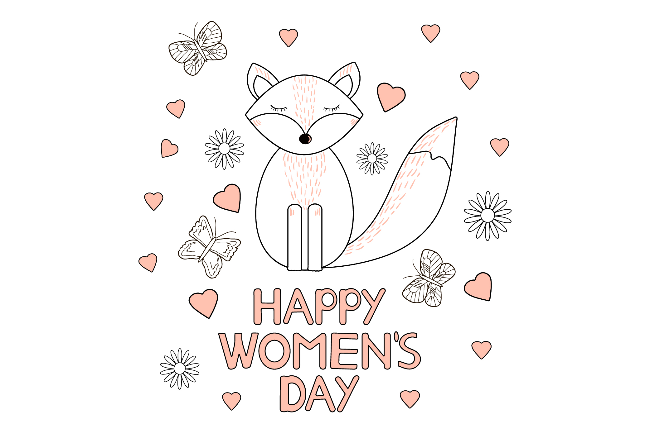 Happy Women's day card. 8 of March. Ai, eps, jpg, png, psd, example image 1