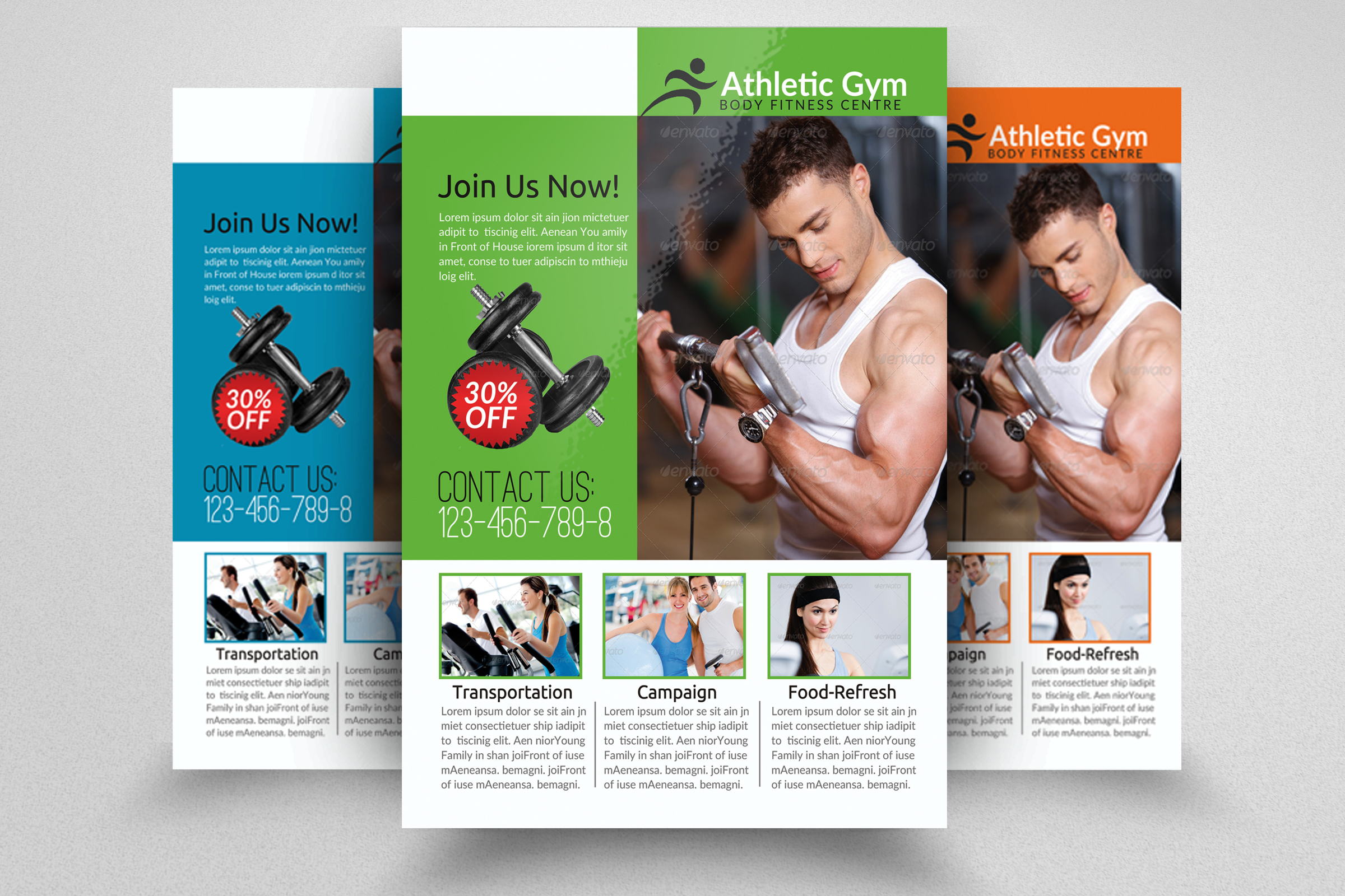 Body Fitness Gym Flyer Template example image 1