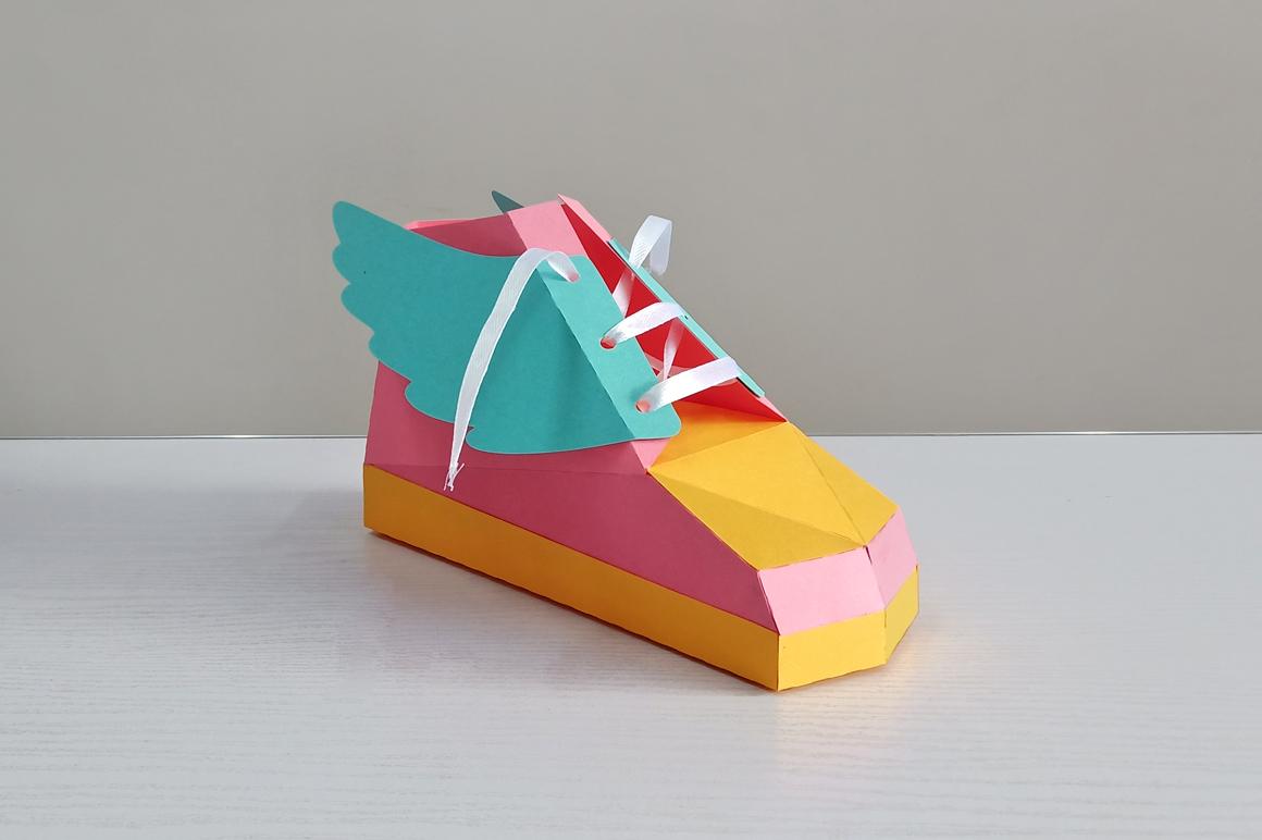 DIY Hip hop shoe - 3d papercraft example image 3