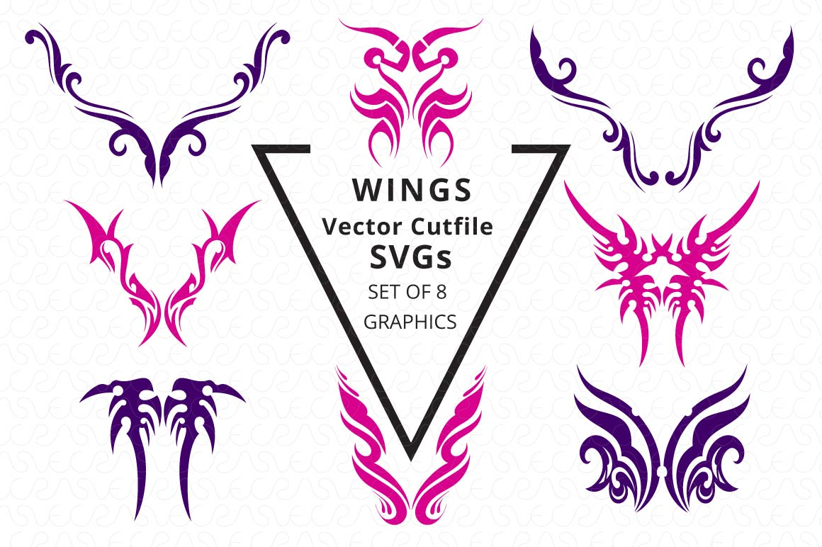 SVG Cutfiles Bundle-1 with 200 Unique Shapes example image 15